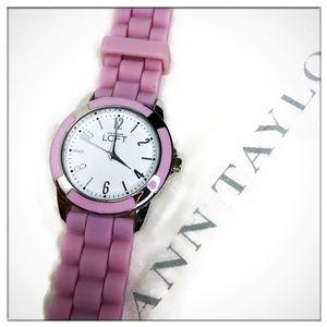 Ann Taylor LOFT Lavender Silicone Wrist Watch